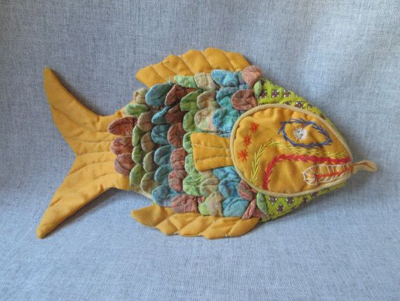 Silly Fish Shaped Oven Mitt Pot Holder Feed By Wildcrockophile