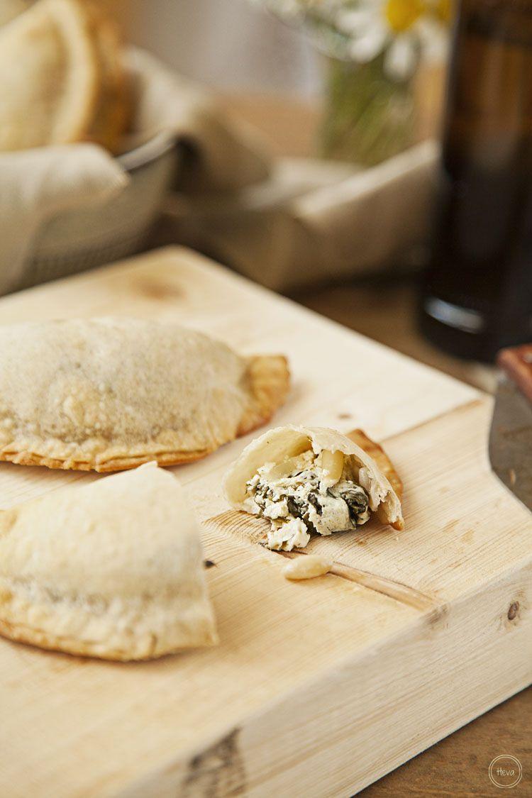 Tarjeta d embarque: Empanadillas de labneh y espinacas