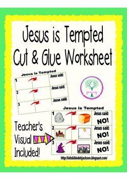 Jesus Is Tempted Worksheet Freebie Teachers Visual Included