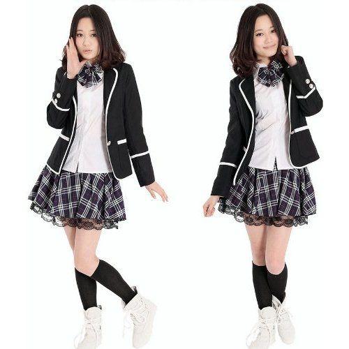 Amazon.com: Winter Classic Korean School Girl Uniform ...