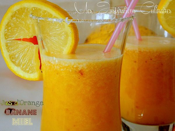 jus d'orange banane / banana orange juice