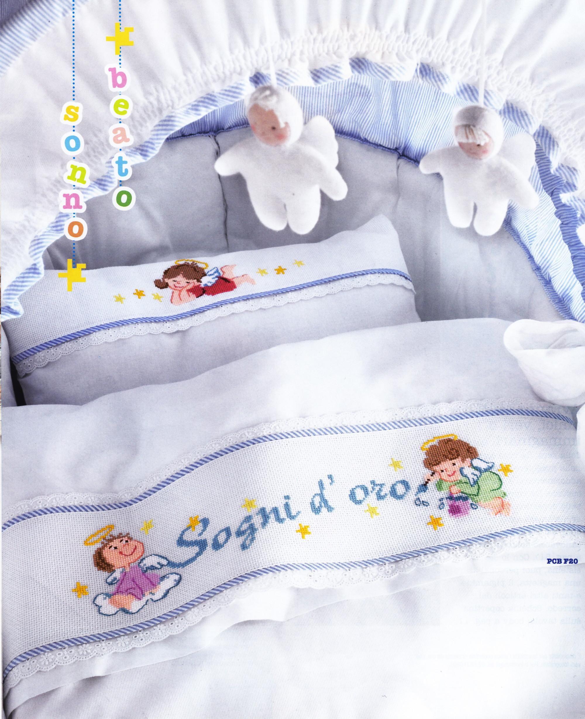 Lenzuolino Angioletti Fai Da Te E Hobby Cross Stitch Baby Cross