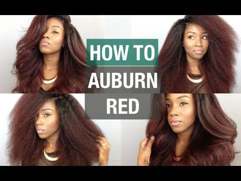 HOW TO COLOR YOUR HAIR AT HOME | AUBURN OMBRE FOR CURLY HAIR