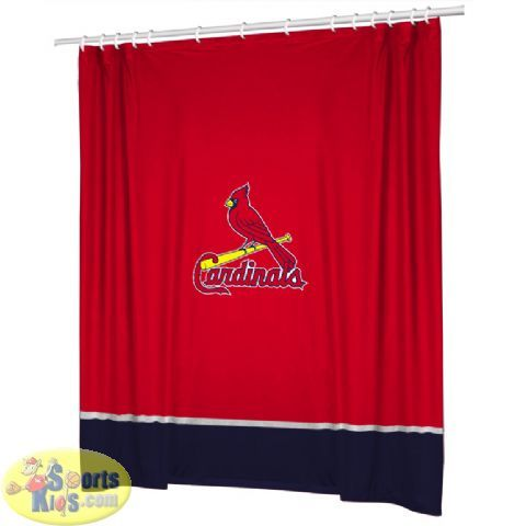 Mlb St Louis Cardinals Sidelines Shower Curtain For Liam S