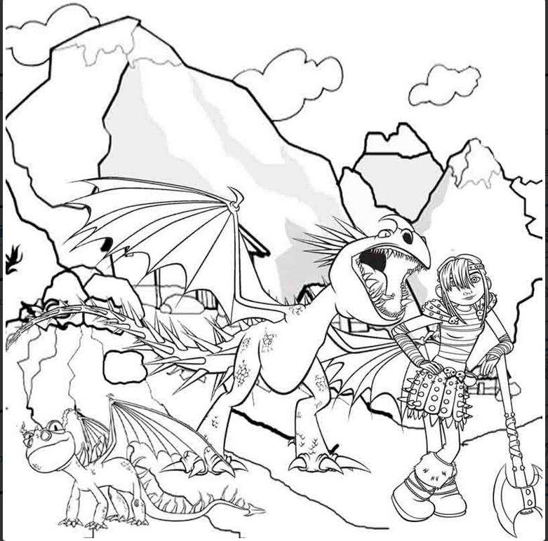 Coloriage Astrid Et Les Dragons Coloriage Coloriage Dragon Coloriage Automne