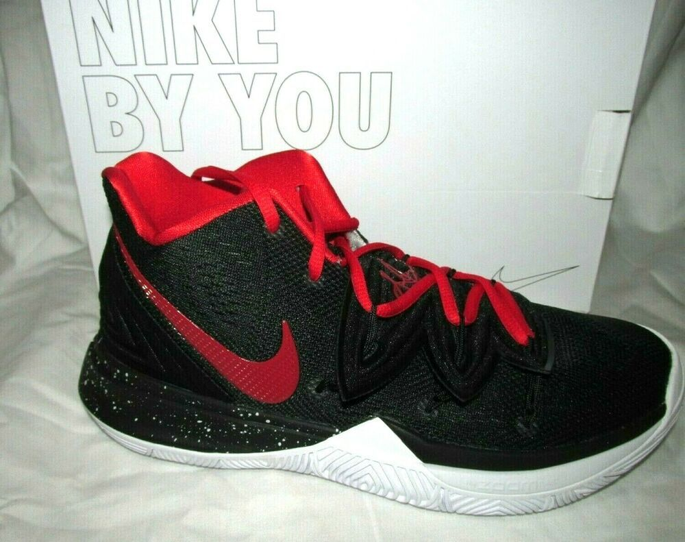 Nike Kyrie 5 ID Mens Basketball Shoes 8.5 Black Red White
