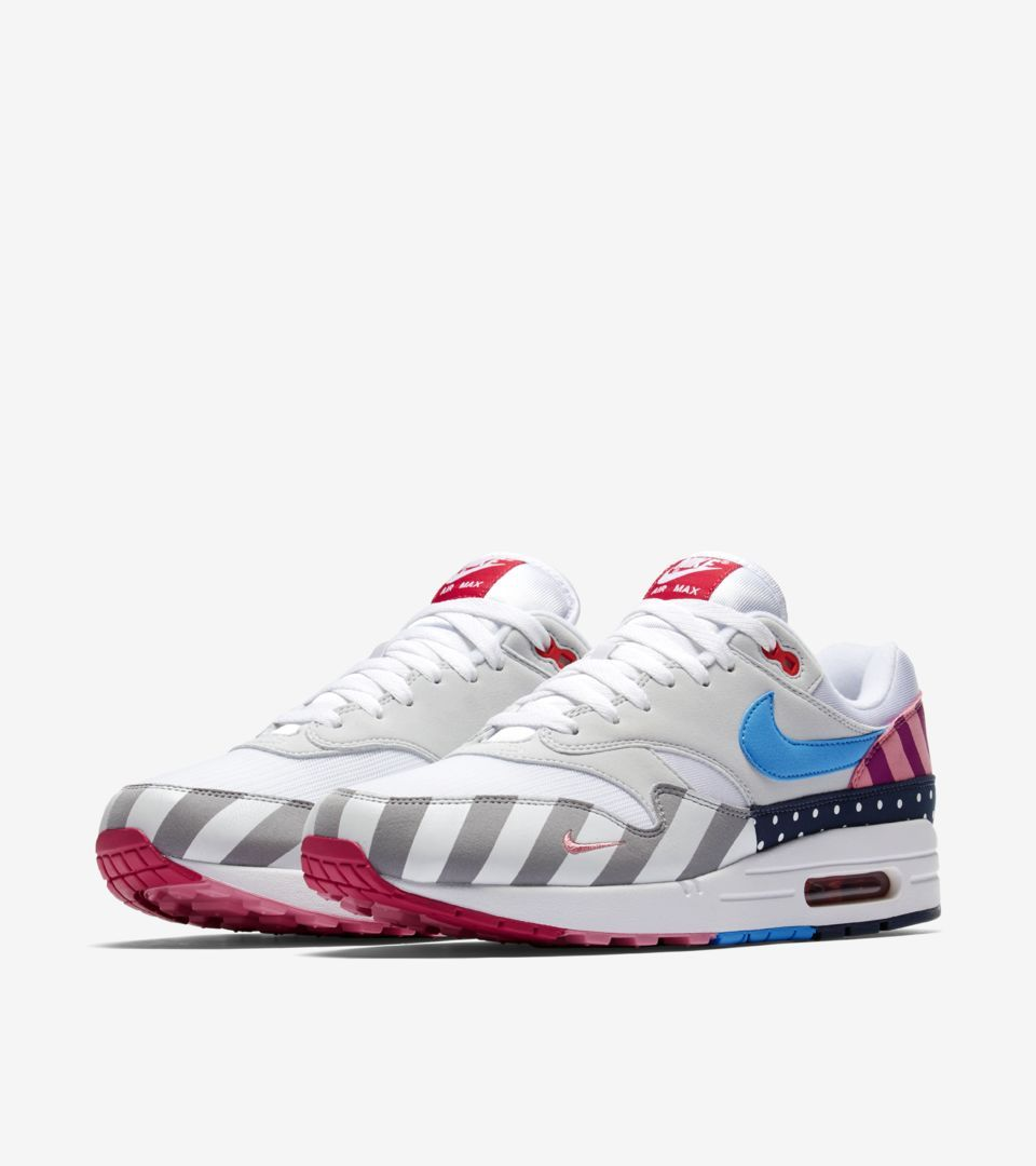 ca8f64fd17851 Explore and buy the Nike Air Max 1  Parra  2018. Stay a step ahead of the  latest sneaker launches and drops.