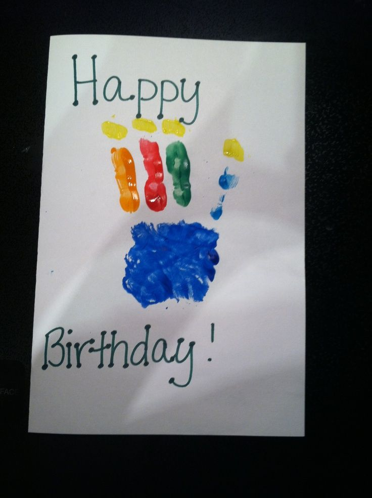 Image Result For Homemade Birthday Cards Dad From Toddler Also Rh Za