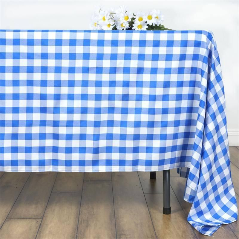 Blue Gingham Tablecloth 70 Square Have 1 Plaid Tablecloth