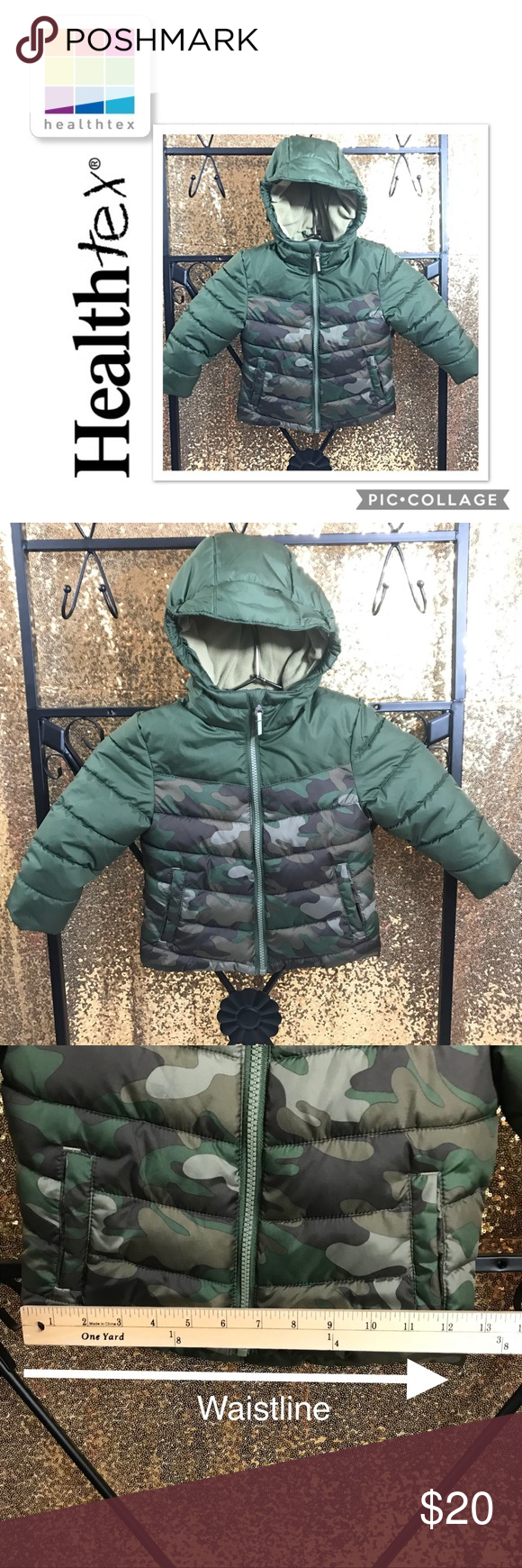 8e255a746 Infant/TDLR Boys Camouflage Winter Puffer Jacket Infant & Toddler Boys  Green Camouflage Coat Winter