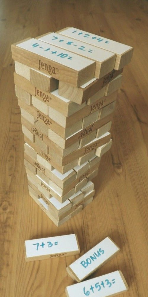 Mit Jenga spielerisch Mathe lernen klasse Idee