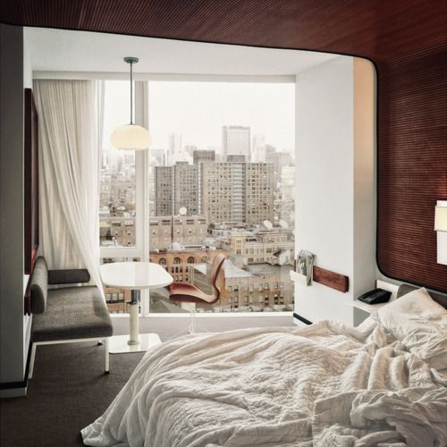 Wow, supercozy!! I would spend all day in bed looking out of the window, reading papers and eating cookies :)