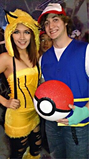 happy halloween its pikachu and ash halloween costumes diy ashs costume pokeball and - Happy Halloween Com