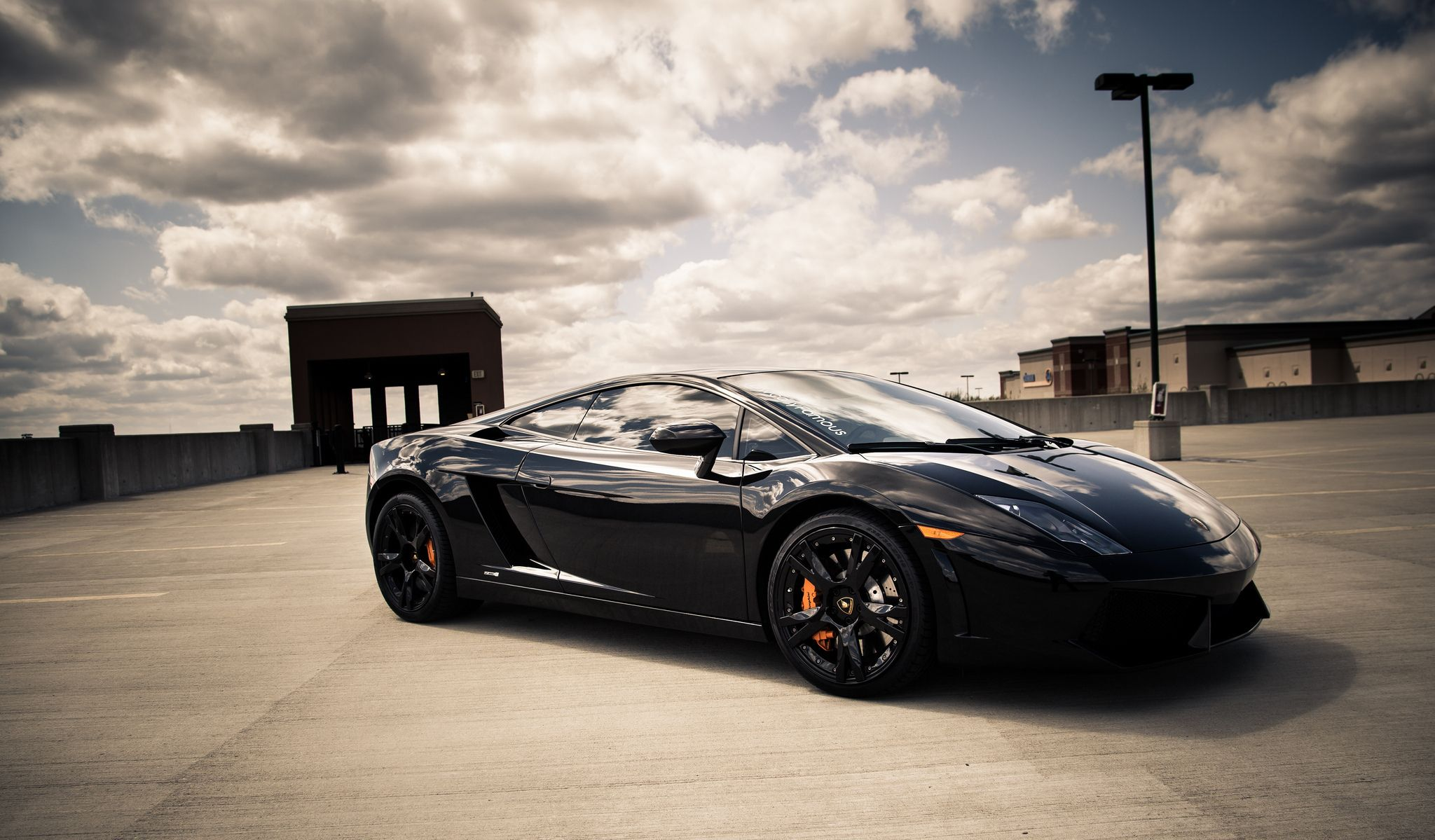Wallpaper Area Black Lamborghini Gallardo HD