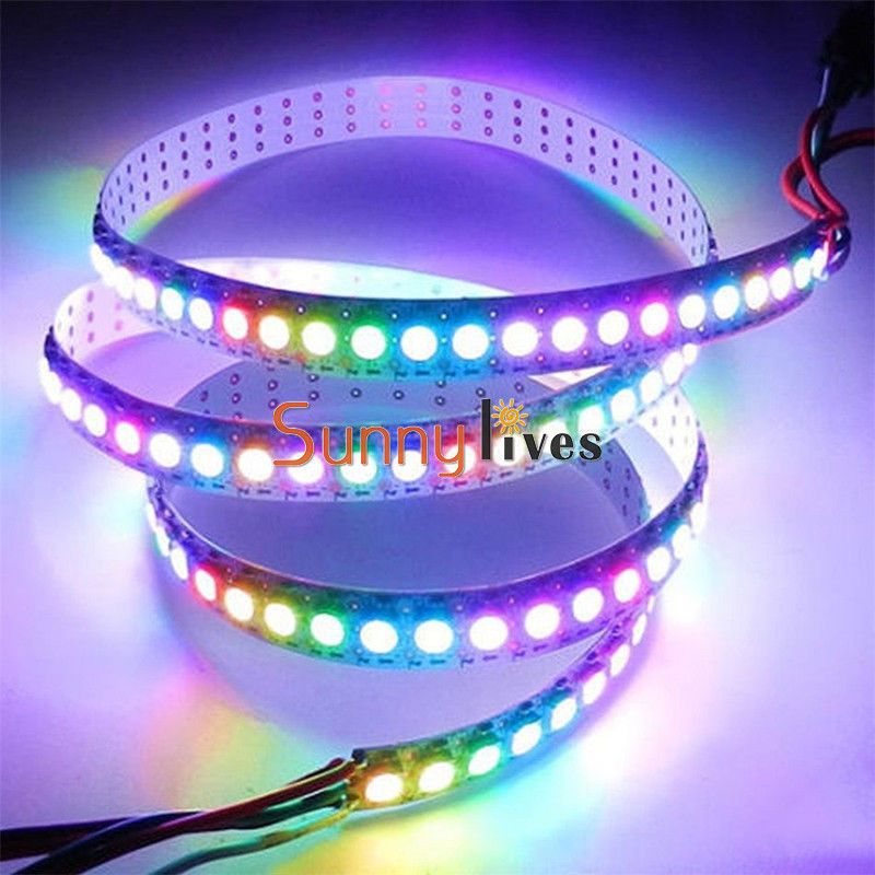 636 aud 1m 60led ws2812b 5050 rgb led strip light addressable 636aud 1m 60led ws2812b 5050 rgb led strip light addressable black shell ebay mozeypictures Image collections