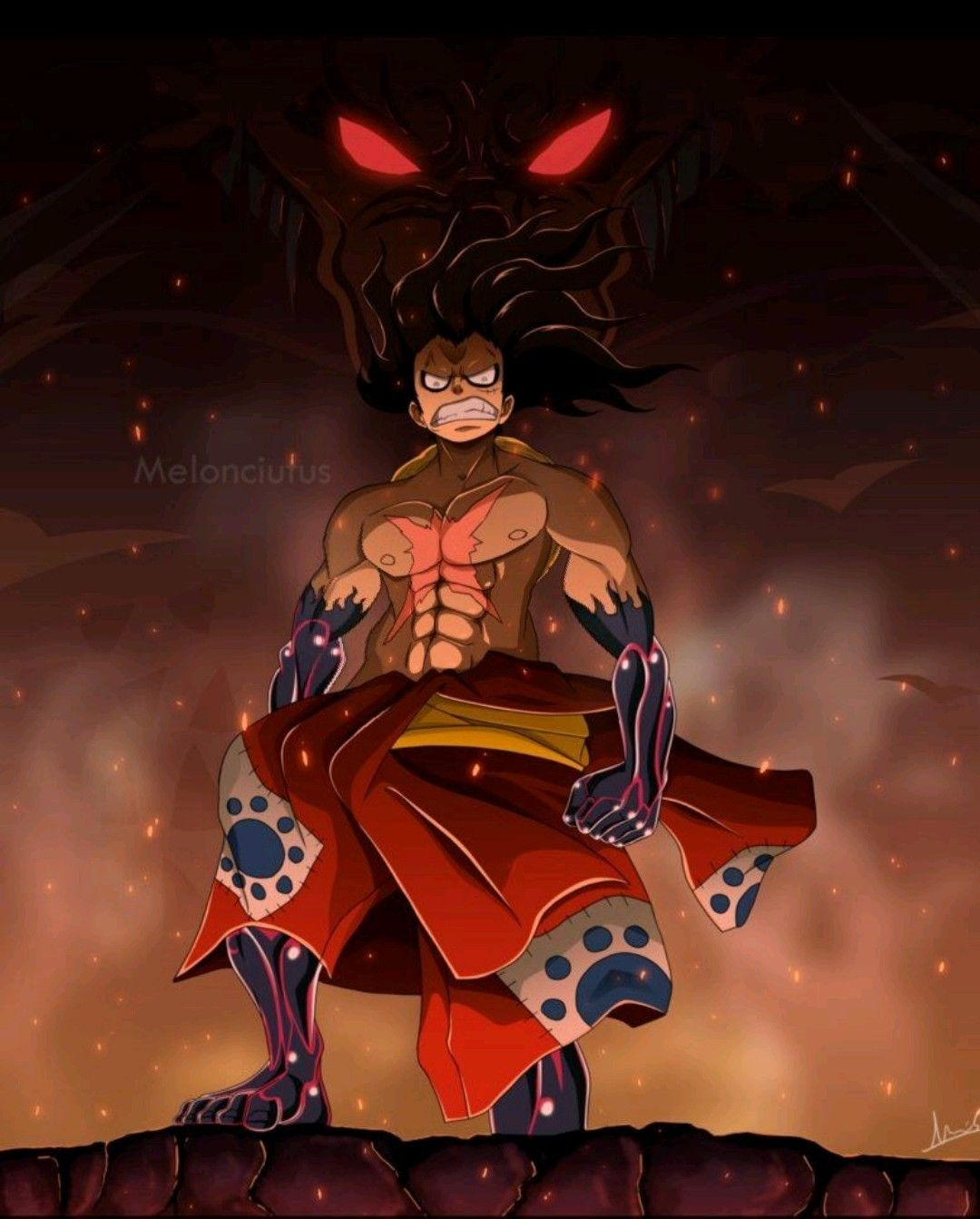 Pin by Black marvel on battle school Luffy gear fourth