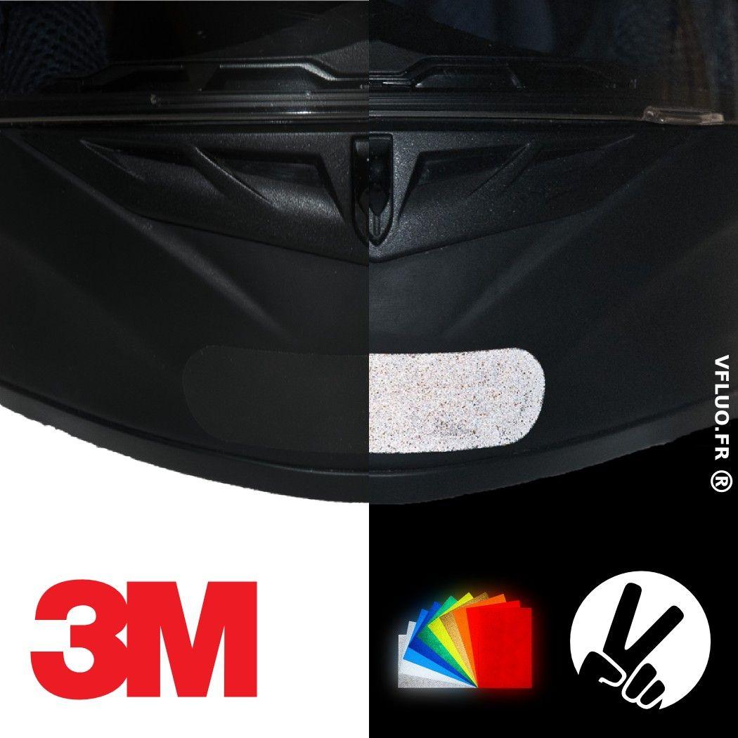 Stickers 3M™ - STANDARD 1 - rétro réfléchissant casque moto noir / couleur LE JOUR ET LA NUIT
