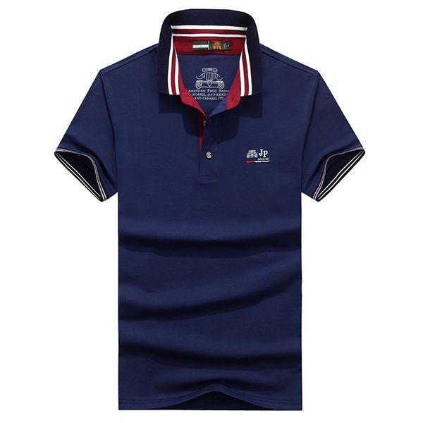 25e401d4e26 Short Sleeves · Sale 21% (24.92 ) - AFSJEEP Business Casual Turn-down Polo  Shirt