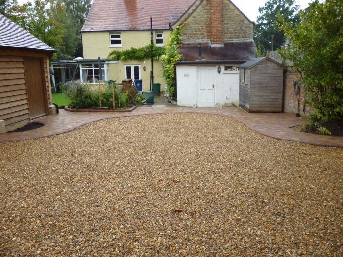 This Cottage Had Its Parking Area And Driveway Transformed With Some Local Golden Shingle A