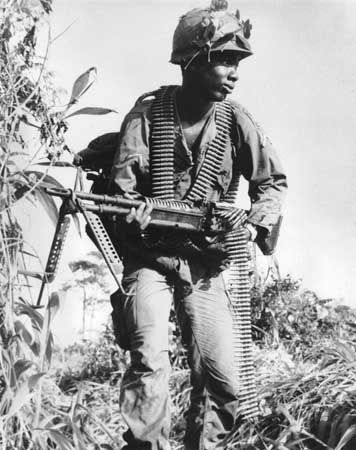 Machine Gunner with an M-60