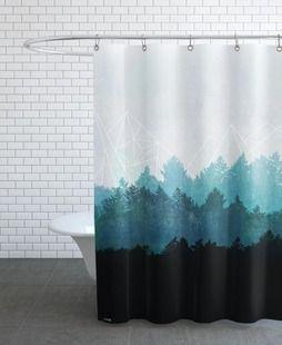 Woods Abstract - Mareike Böhmer - Duschvorhang | Duschvorhang ... Dusch Vorhang Dekorieren Selbermachen