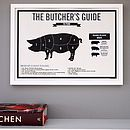 Photo of Butcher's Beef Meat Cuts Kitchen Infographic Print