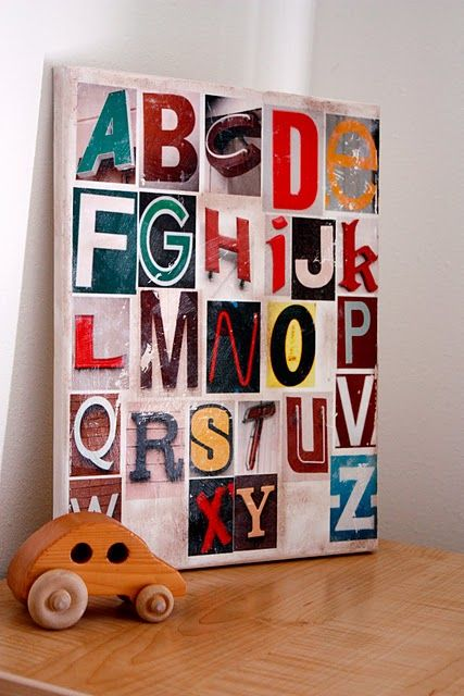 Found Letter Canvas
