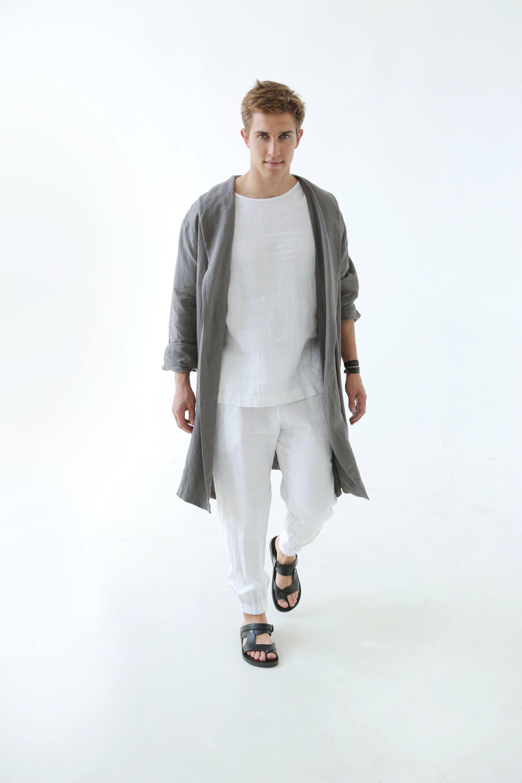 Mens Linen T Shirt Summer T Shirt White T Shirt Shirt For Men Basic T Shirt Mens Organic Clothes Stylish T Shirt Natural Flax Shirt Black Linen Pants Lightweight Linen Pants Linen Summer Outfits