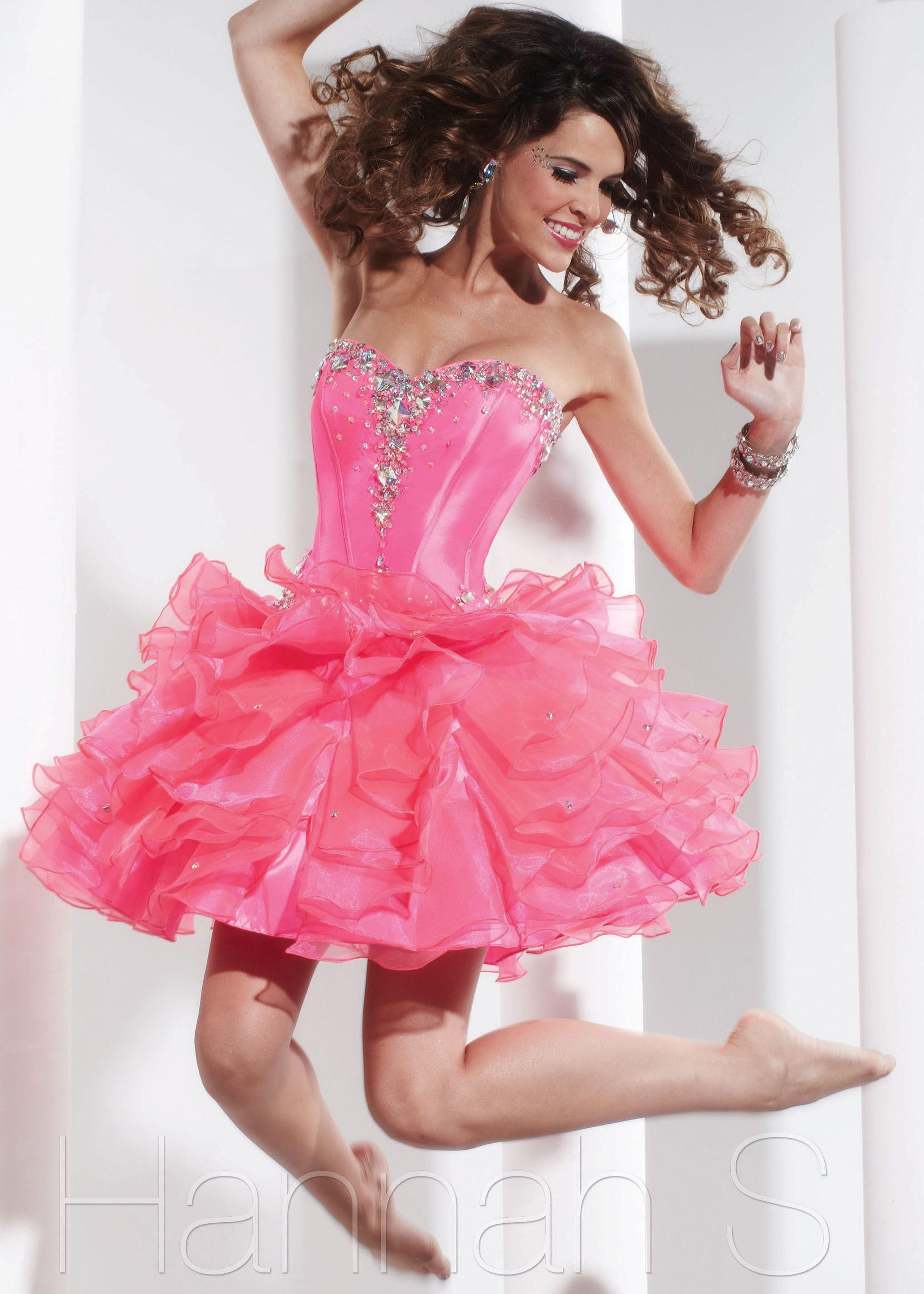 Sexy pink prom dress hannah s prom dresses pinterest