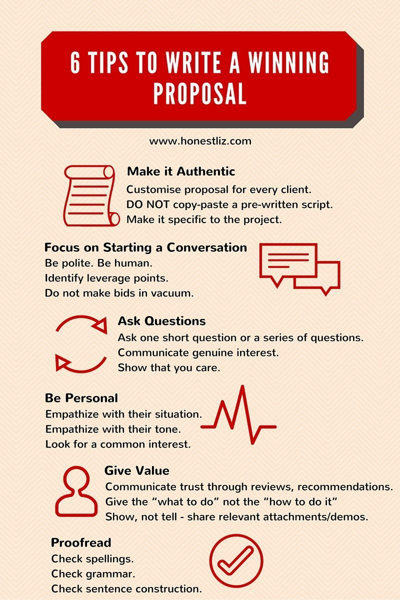 6 Tips to Writing a Winning Proposal by Honestliz [Infographic ...