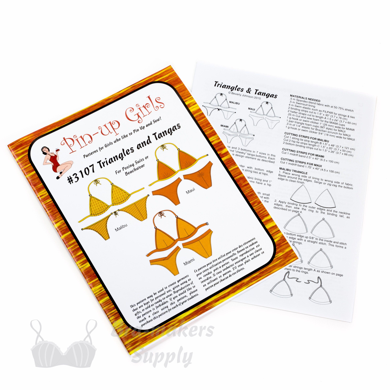 PB-3107 – Triangles Tangas Bikini Patterns