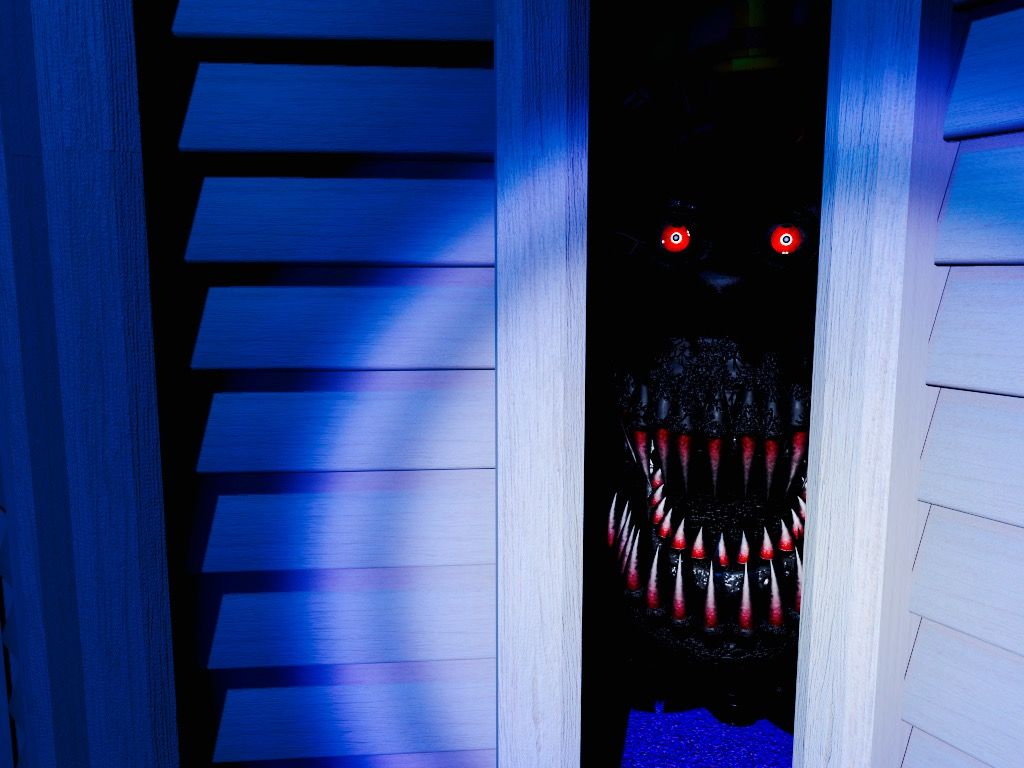 the nightmare animatronic hiding in the closet of the