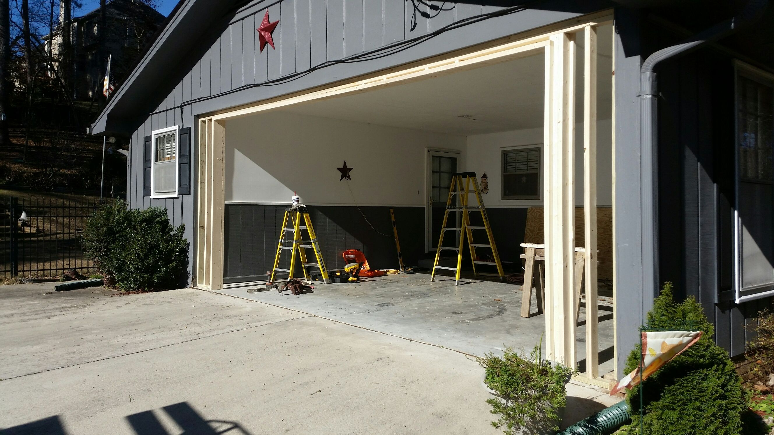Enclosed carport with garage door http: voteno123.com pinterest