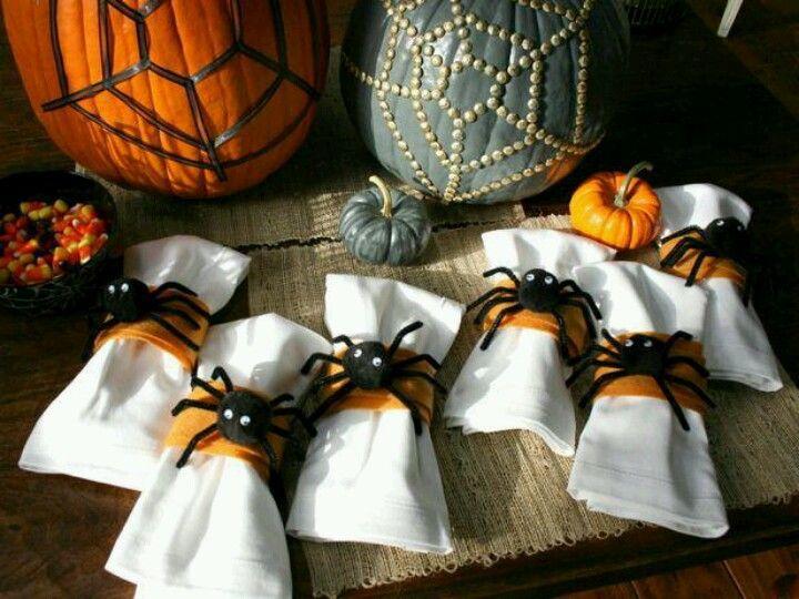Spidey napkin rings