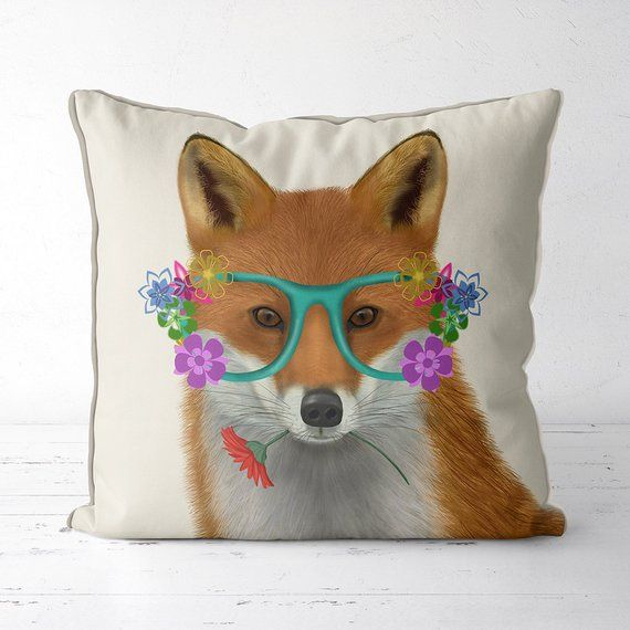 fox pillow fox gifts Animal pillow Woodland nursery decor fox cushions animal cushion woodland animal kids room pillow kids room decor