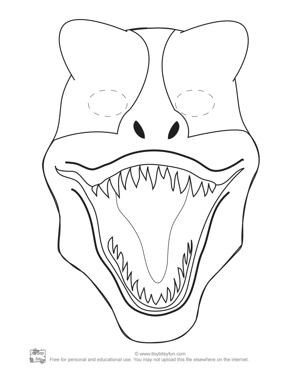 T Rex Mask To Color