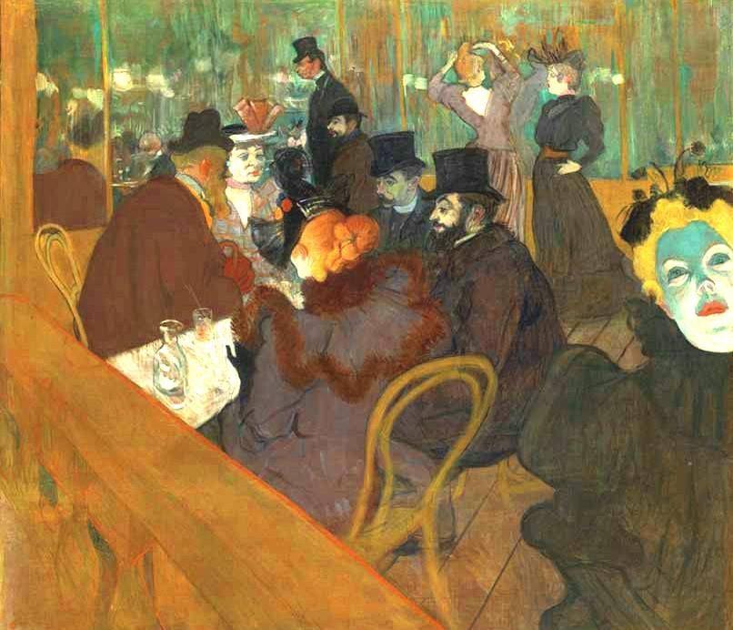 Toulouse-Lautrec, Henri De (Italian, 1864-1901) at the Moulin Rouge-1892-93
