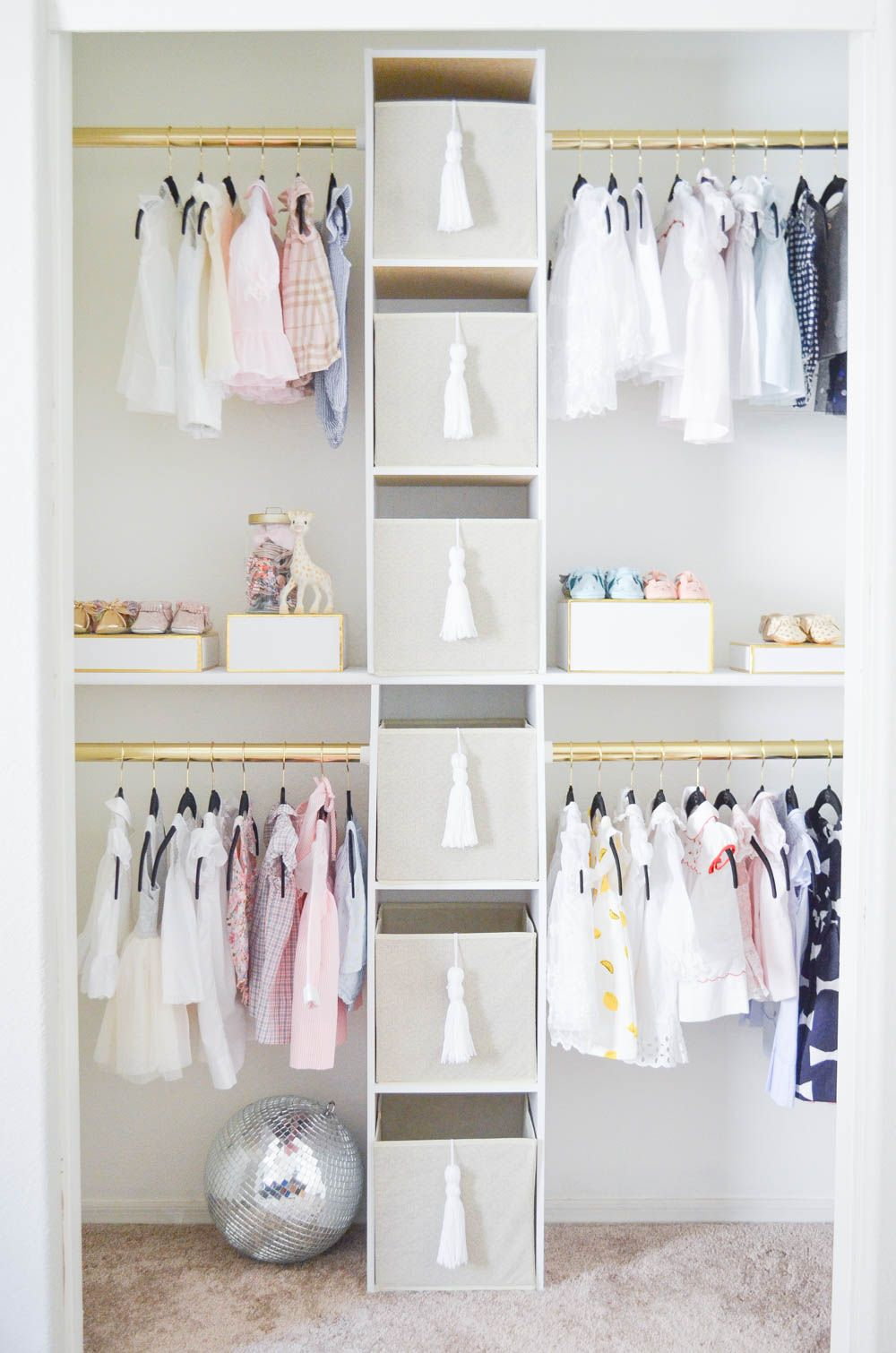 You D Never Believe They Created This Nursery Closet On A Budget It S So Glam