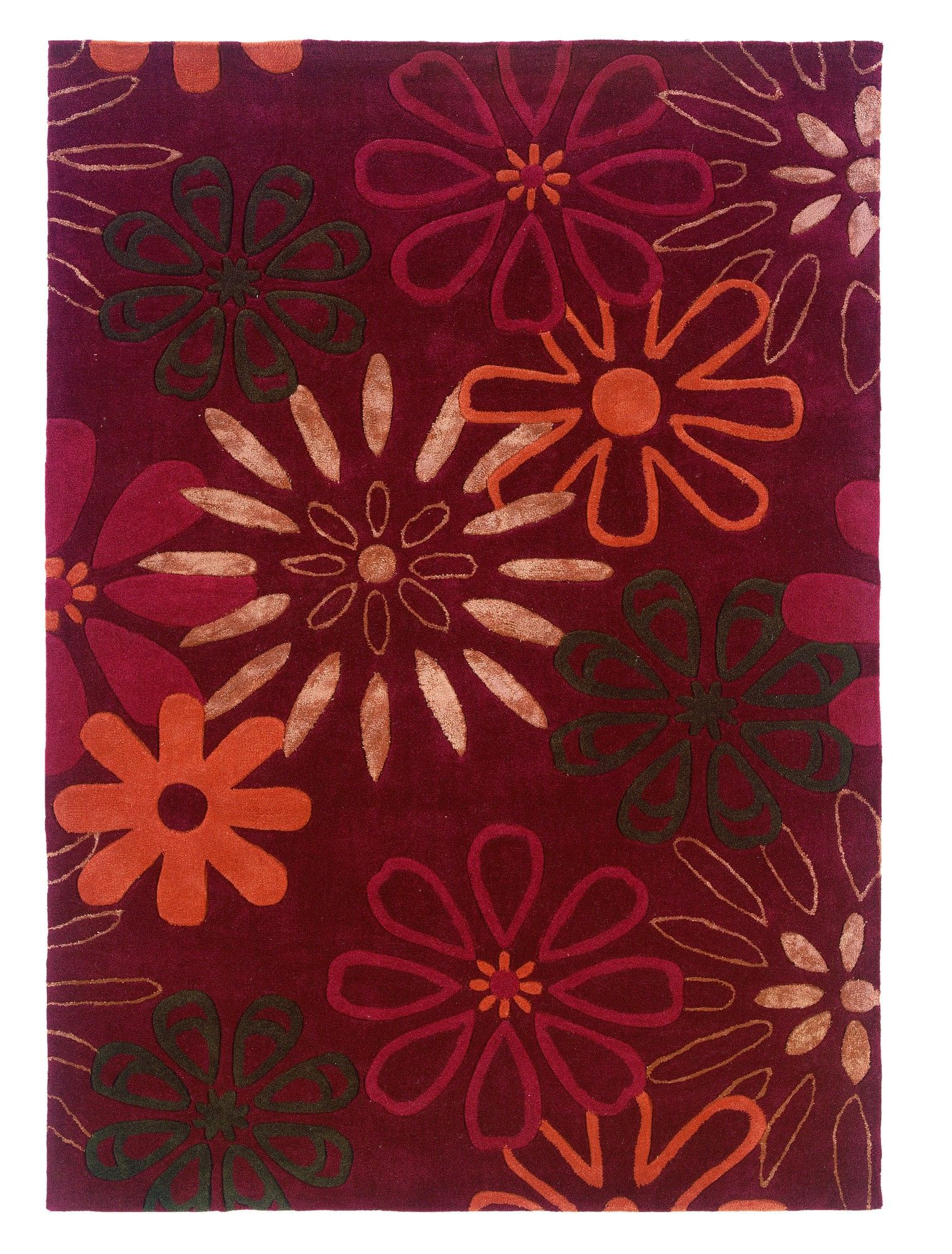 Constance Hand-Tufted Red Area Rug