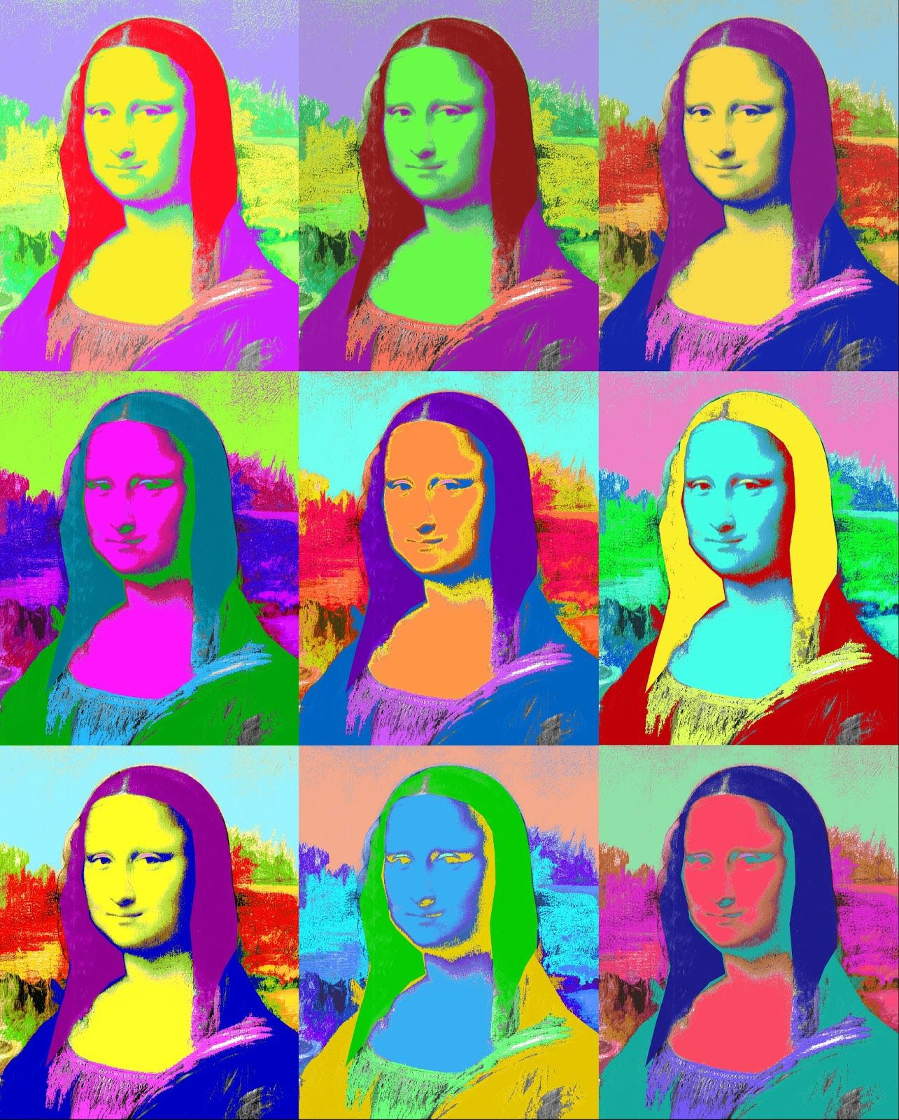 Fabuleux Mona Lisa en artpop.   Art Nouveau, Decó, Pop & Modernismo.   Andy @CU_83