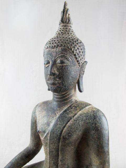 Bronze Sakyamuni Buddha - Thailand - 15th Century ...