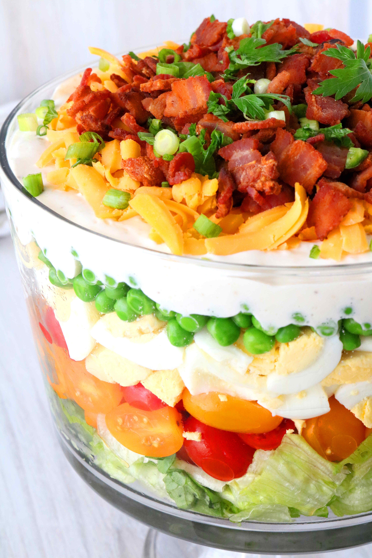 7 Layer Salad Recipe Recipe In 2020 Layered Salad 7 Layer Salad Layered Salad Recipes