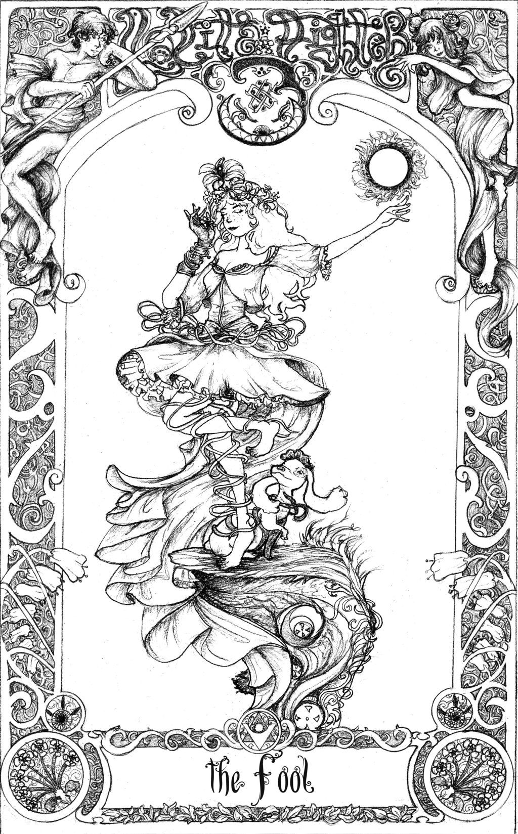 Tarot LF3: The Fool by blinkgdl @DeviantArt | Adult Coloring ...