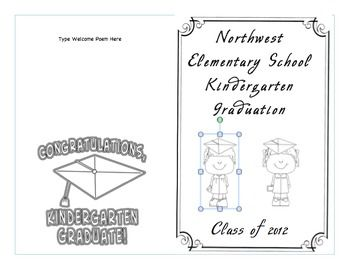 Kindergarten Graduation Program Template Crafts And Stuff