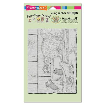 """""""CLING ODORABLE FRIEND"""", Stock #: HMCR51, from House-Mouse Designs®. This item was recently purchased off from our web site. Click on the image to see more information."""