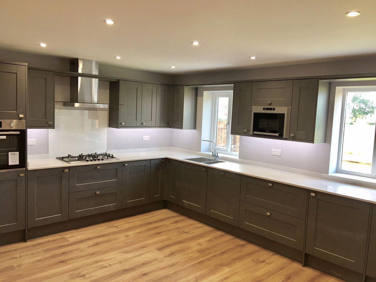This Fairford Kitchen in Slate Grey with Quartz Worktops
