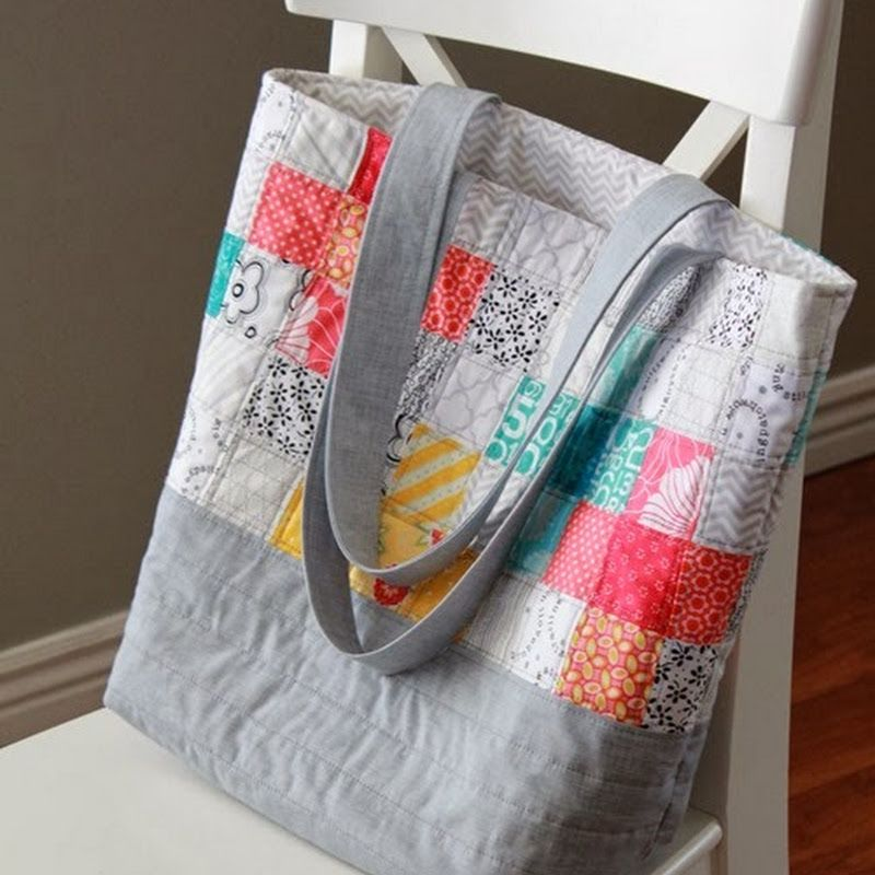 A Bright Corner Scrappy Quilted Tote Bag Updated Link To Tutorial