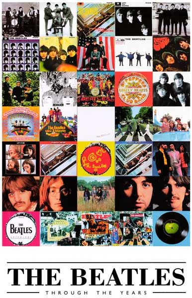 Beatles Album Covers Through the Years Poster 11x17 – BananaRoad