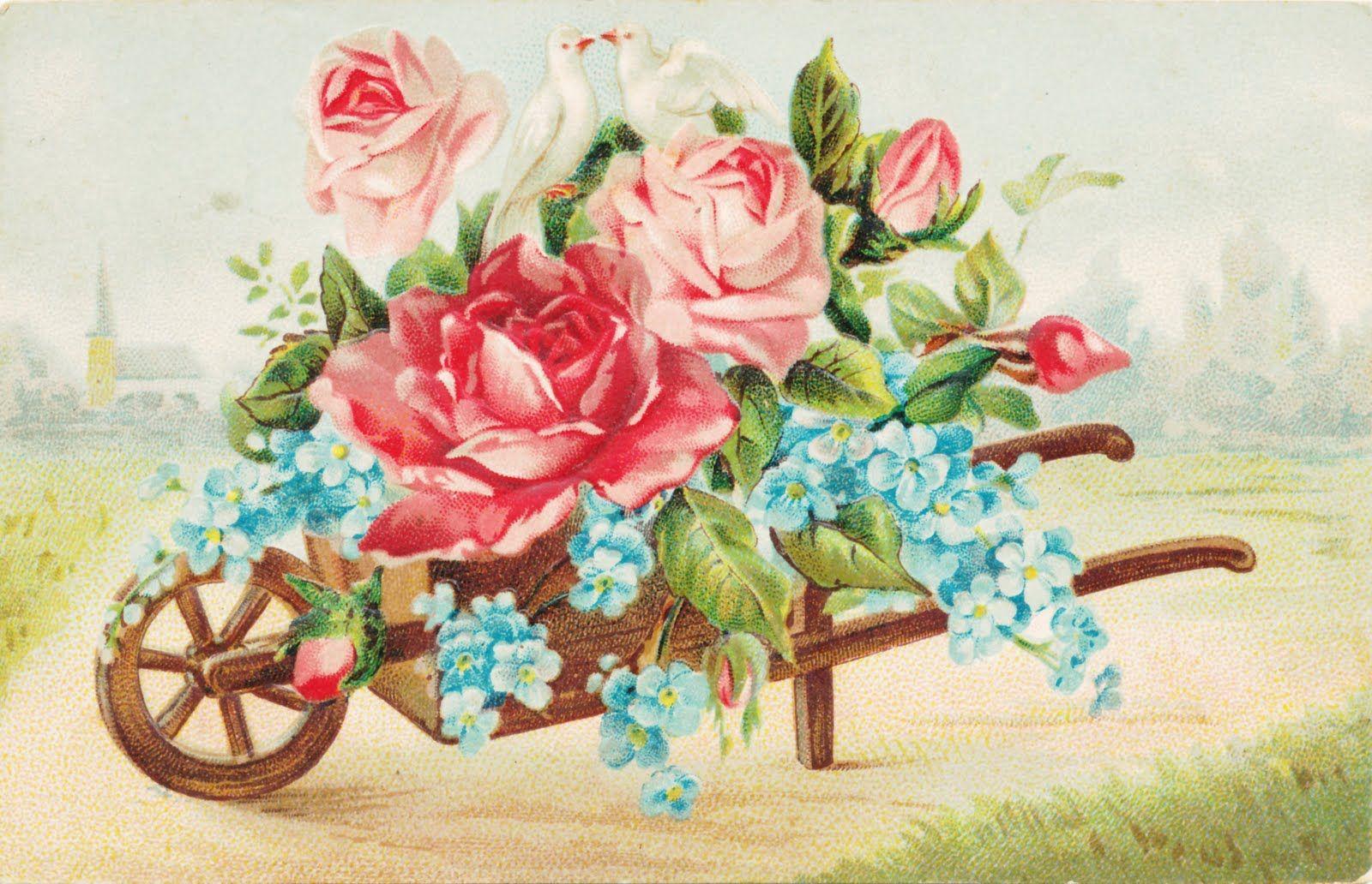 красивые картинки с цветами старинные каждое