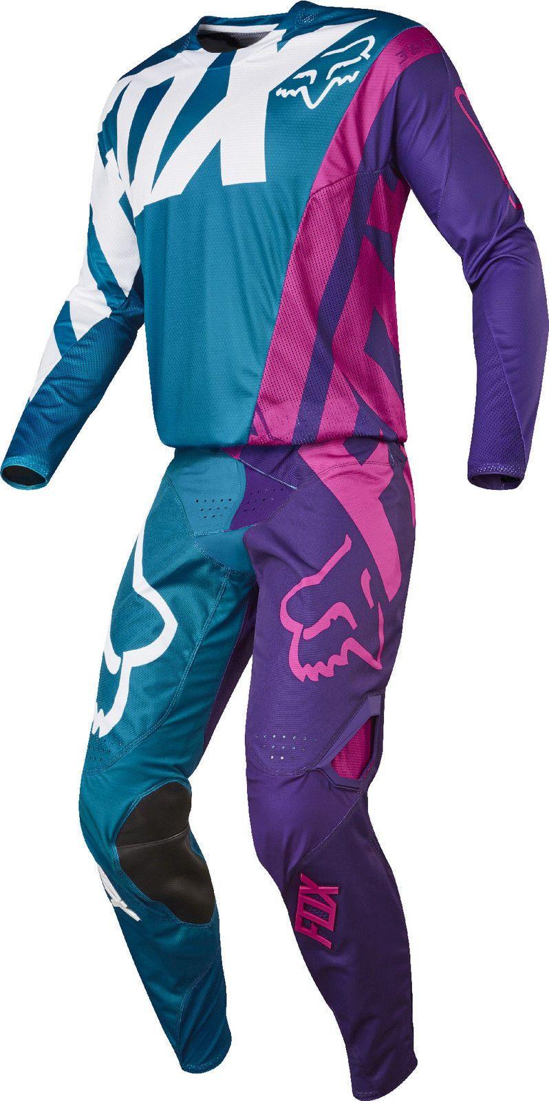 Fox Racing Mens Teal Blue Pink Purple White 360 Creo Dirt Bike Jersey Pants Kit